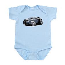 Veyron Black-Grey Car Infant Bodysuit