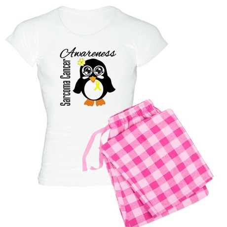 Penguin Cancer Awareness Women's Light Pajamas