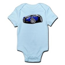 Veyron Black-Blue Car Infant Bodysuit