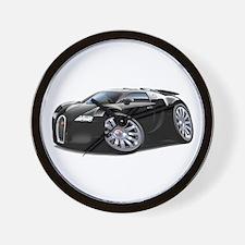 Veyron Black Car Wall Clock