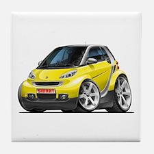 Smart Yellow Car Tile Coaster