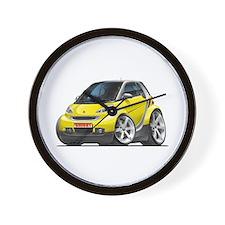 Smart Yellow Car Wall Clock