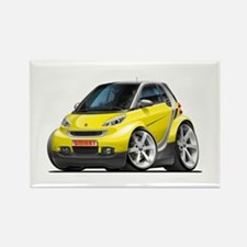 Smart Yellow Car Rectangle Magnet