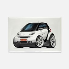 Smart White-Black Car Rectangle Magnet