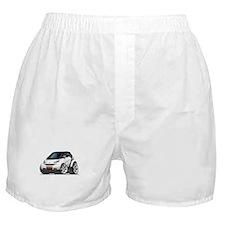 Smart White-Black Car Boxer Shorts