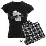 Solidarity - White State - Fi Women's Dark Pajamas