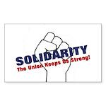 Solidarity - White State - Fi Sticker (Rectangle)