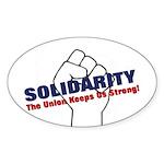 Solidarity - White State - Fi Sticker (Oval 50 pk)