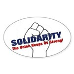 Solidarity - White State - Fi Sticker (Oval 10 pk)