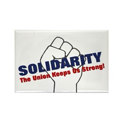 Solidarity - White State - Fi Rectangle Magnet