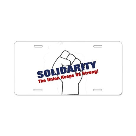 Solidarity - White State - Fi Aluminum License Pla