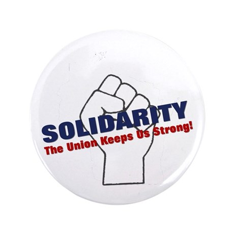 "Solidarity - White State - Fi 3.5"" Button (10"