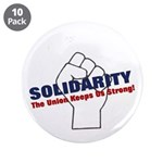"Solidarity - White State - Fi 3.5"" Button (10"