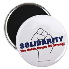 "Solidarity - White State - Fi 2.25"" Magnet (1"