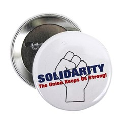 "Solidarity - White State - Fi 2.25"" Button (1"