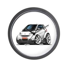 Smart White Car Wall Clock