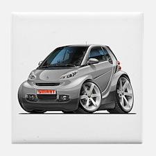 Smart Silver Car Tile Coaster