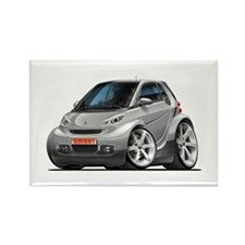 Smart Silver Car Rectangle Magnet