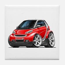 Smart Red Car Tile Coaster
