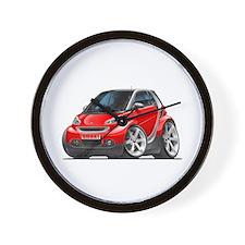 Smart Red Car Wall Clock
