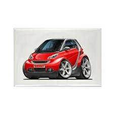 Smart Red Car Rectangle Magnet