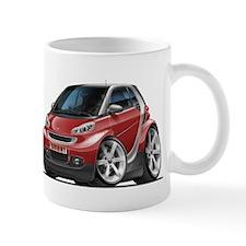 Smart Maroon Car Mug