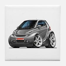 Smart Grey Car Tile Coaster