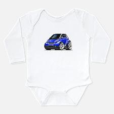 Smart Blue Car Long Sleeve Infant Bodysuit
