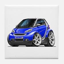 Smart Blue Car Tile Coaster