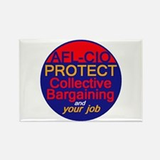 Collective Bargaining Rectangle Magnet