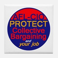 Collective Bargaining Tile Coaster
