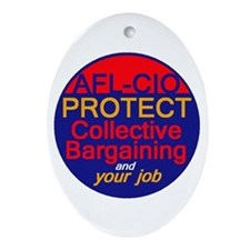 Collective Bargaining Ornament (Oval)