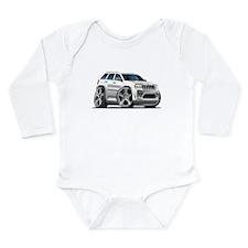Jeep Cherokee White Car Long Sleeve Infant Bodysui