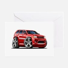 Jeep Cherokee Red Car Greeting Card