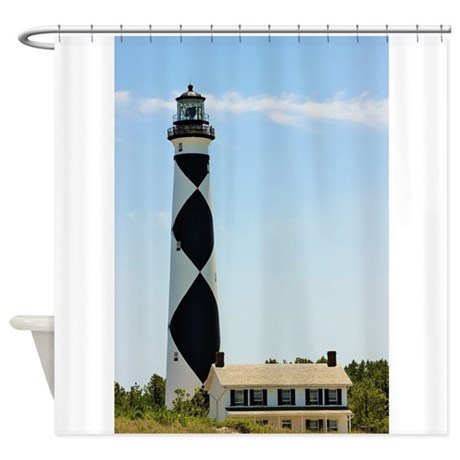 cape lookout lighthouse shower curtain