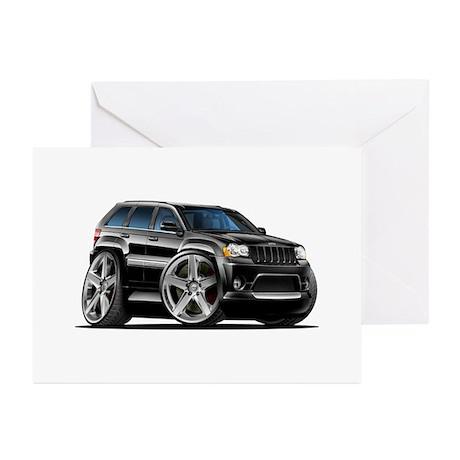 Jeep Cherokee Black Car Greeting Cards (Pk of 10)