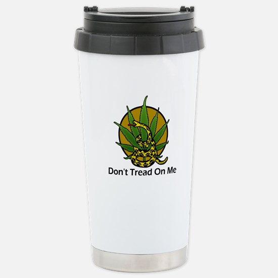 Don't Tread on Me Legalize M Stainless Steel Trave