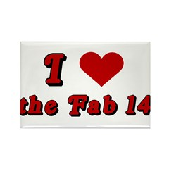 I <3 the Fab 14 Rectangle Magnet
