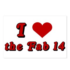 I <3 the Fab 14 Postcards (Package of 8)
