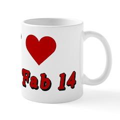 I <3 the Fab 14 Mug