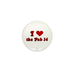 I <3 the Fab 14 Mini Button (100 pack)
