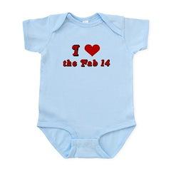 I <3 the Fab 14 Infant Bodysuit