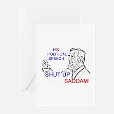 Shut Up Saddam Greeting Cards (Pk of 10)