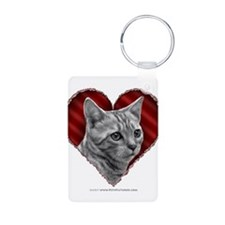 Bengal Cat Heart Keychains