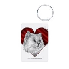 Persian Cat Heart Keychains
