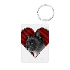 Siamese Cat Heart Keychains