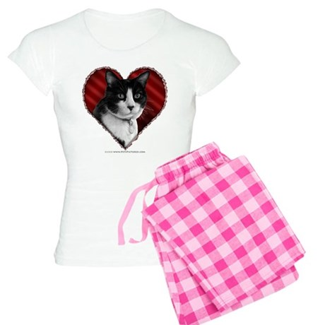Tuxedo Cat Heart Women's Light Pajamas