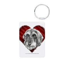 Wire-haired Dachshund Valenti Keychains
