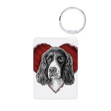 Springer Spaniel Valentine Keychains