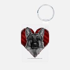 German Shepherd K9 Valentine Keychains
